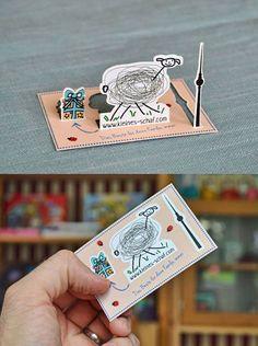 Decorative Children's Products Business Card // 255 Creative & Unique Business Cards Design Inspiration & Ideas