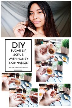 Diy sugar lip scrub with honey and cinnamon