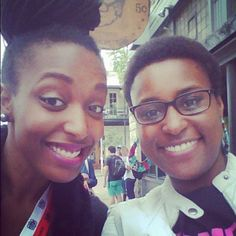 Two awesome people...Franchesca Ramsey and Issa Rae!