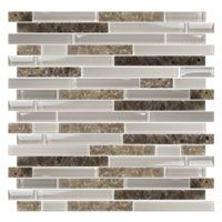 A beautiful blend of Marble and Glass. The Botwin Stria Mosaic 12 x 12 in. #thetileshop #backsplash