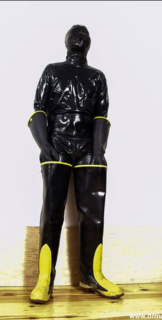 Covered in latex Firefighter Boots, Latex Men, Latex Pants, Diving Suit, Rubber Doll, Nylons, Heavy Rubber, Neoprene Rubber, Rain Gear