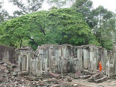 The ruins in Angkor Thom
