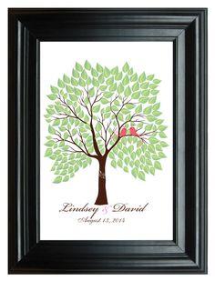 Digital WEDDING TREE GUESTbook printable spring by SugarVineArt, $25.20