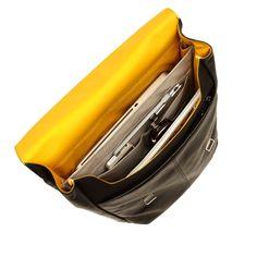 "Hudson 15"" Black Leather Laptop Backpack from KNOMO: Official Store | Men's 15"" Laptop Bag | Backpack Black Leather | Men's Bags | Laptop Bags | Designed by KNOMO London"