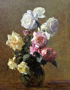 Henri Fantin-Latour - Roses, 1883 at Kunsthaus Zürich - Zurich Switzerland by mbell1975, via Flickr