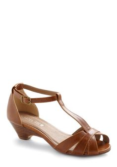 Go About Your Afternoon Heel in Chestnut - ModCloth