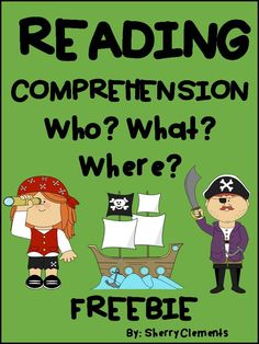 "FREEBIE! Get ready for ""Talk Like a Pirate Day"" - Reading Comprehension: Who? What? Where? - Cute short story with related fill in the blank sentences. Great for checking for reading comprehension and also great for introducing Close Reading! Thanks for leaving me feedback!"
