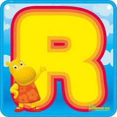 Backyardigans - R Carl Y Ellie, Alphabet And Numbers, Alphabet Fonts, Baby Birthday, Tweety, Pikachu, Lettering, Fictional Characters, Ben 10