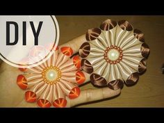 DIY || Cara Membuat Bros Bunga Galau / Kanzashi Flower 09 - Lista Tsurayya Tutorial - YouTube