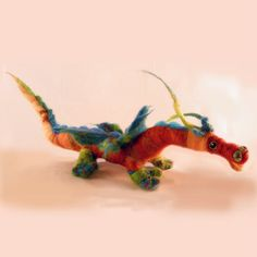 soft sculpture needle felted dragon.