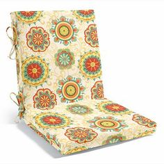 Patterned Two-piece Hinged Chair Cushion