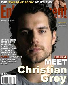 WHAT? I was hoping Ian Somerhalder would be in fifty shades of grey, but Henry Cavill will do.