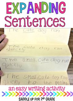 Getting your students to write detailed sentences can be such a difficult task. Come see how my class practices writing expanded sentences with this simple activity.