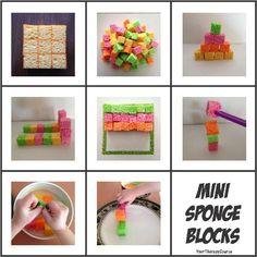 Mini Sponge Building Blocks. Pinned by The Sensory Spectrum.