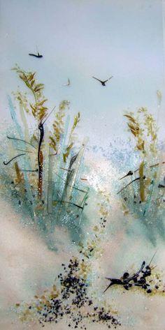 beach fused glass