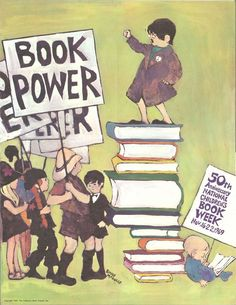 1969 National Book Month Poster: Book Power