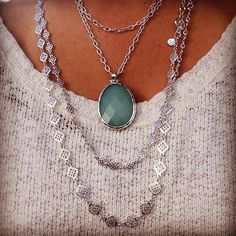 Match made in heaven..Sanibel Pendant and Devon Layering Necklaces! http://www.stelladot.com