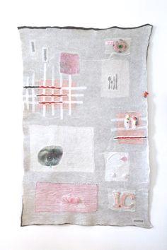 Handmade tapestry of felt, INGEVILT.NL