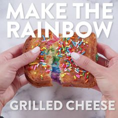 When we saw this rainbow grilled cheese from Kala Toast, we all collectively lost our sh*t and pondered buying a ticket to Hong Kong. Instead, we just decided to make it ourselves and we\'re so happy we did! You too can make your food dreams come true. Just keep watching!