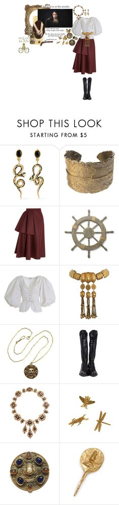 """""""yo ho, yo ho, a pirates life for me....."""" by babytangerine ❤ liked on Polyvore featuring Diego Percossi Papi, Alkemie, Roksanda Ilincic, Adeco, Yves Saint Laurent, Christian Lacroix, Bamboo, Olivia Collings Antique Jewelry, Chanel and Kelly Wearstler"""