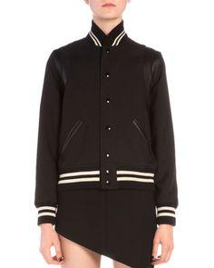 Women's Designer Coats & Jackets at Neiman Marcus Blazer Vest, Vest Jacket, Ladies Coat Design, Striped Jacket, Fashion Branding, Jackets For Women, Saint Laurent, Outerwear Jackets, College