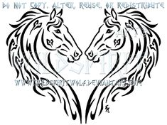 Dual Thoroughbreds Heart Design by WildSpiritWolf.deviantart.com on @deviantART
