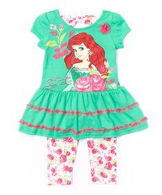 Disney Princess Green Ariel Dress & Leggings - Toddler   zulily