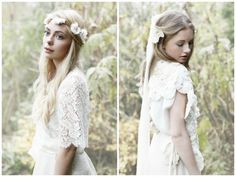 Pretty dresses and headpieces: Minna Bridal 2013 - Bohemian Inspired Bridal Wear