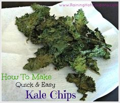 Quick & Easy Kale Chips Recipe