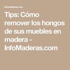 Tips: Cómo remover los hongos de sus muebles en madera - InfoMaderas.com