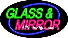 "Glass & Mirror Flashing Neon Sign-ANSAR14216  Dimensions: 17""H x 30""L x 3""D  Custom colors ship in 5-7 business days  110 volt flasher transformer  Cool, Quiet, and Energy Efficient  Hardware & chain are included  Comes standard with 6' power cord  Indoor use only  1 Year Warranty/electrical components  1 Year Warranty/standard transformers."