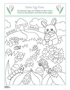 Easter Egg Coloring Pages | Spoonful