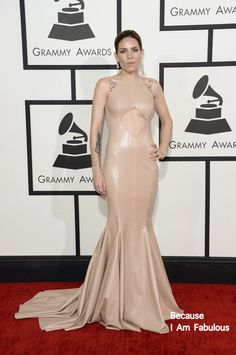 Fabulously Spotted: Skylar Grey Wearing Michael Costello - 2014 Grammy Awards  - http://www.becauseiamfabulous.com/2014/01/skylar-grey-wearing-michael-costello-2014-grammy-awards/
