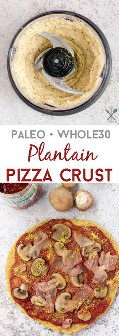 Paleo pizza crust with Whole30 compliant ingredients. The perfect crust consistency without flour or yeast.