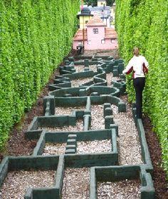 A so-called balance maze, hidden within a normal maze.