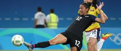 Christen Press vs. Colombia, Aug. 9, 2016. (Erich Schlegel/USA Today Sports)