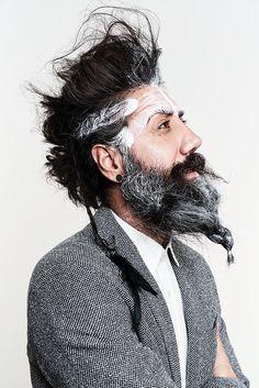 photo: Felix Rachor www.felix-rachor.com  men editorial, beard, color, hair, fashion, magazine, cover, ruff,