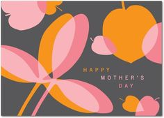 Trendy mother's day greeting card