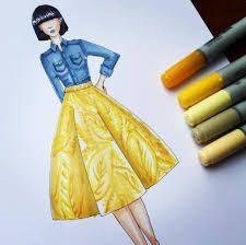 Resultado de imagen para bocetos de moda a lapiz