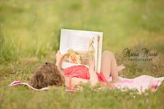 reading on a blanket
