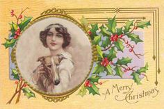 Holiday Card Antique Replica