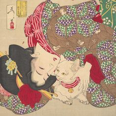 #MetMediaLab team member Emily McAllister created a free Google Chrome extension that populates new browser windows with full screen images of cats in our collection. [Link in bio] Tsukioka Yoshitoshi (Japanese, 1839–1892). Teasing the Cat (detail), Meiji period (1868–1912) #metmuseum #meowmet #AsianArt100