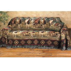 Evening Gold Large Sofa Cover 170 X 70 - Western Wear, Equestrian Inspired Clothing, Jewelry, Home Décor, Gifts