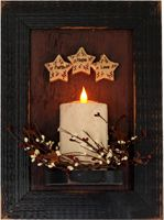 More from Rustic Impressions, Amish handcrafted flameless candles and accessories. Star Wall, Flameless Candles, Rustic Wall Decor, Amish, Candle Sconces, Wall Lights, Indiana, Interior, Online Shopping