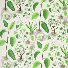 Rox & Fix is a Josef Frank print that shows mountain silhouettes and uses contours that draw the eye deeper and deeper into the pattern. - Textile Rox & Fix, Linen Rox & Fix, Josef Frank Textiles, Textile Patterns, Textile Design, Fabric Design, Pattern Fabric, Pattern Design, Josef Frank, Motif Floral, Pretty Patterns