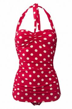 Esther Williams Swimwear - classic fifties badpak polka vintage Red White