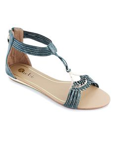 Look what I found on #zulily! Green Arriana Sandal by Machi Footwear #zulilyfinds