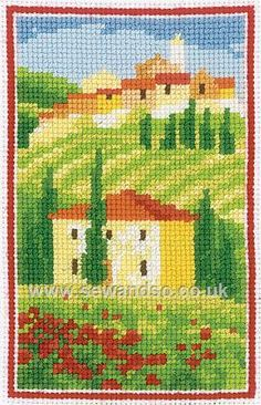 Buy Tuscan Hills Cross Stitch Kit Online at www.sewandso.co.uk