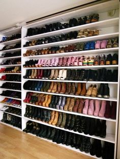 Shoe Wall in Master Walk-in Closet Master Closet, Closet Bedroom, Closet Space, Closet Mirror, Closet Wall, Master Suite, Bedroom Decor, Walk In Wardrobe, Walk In Closet