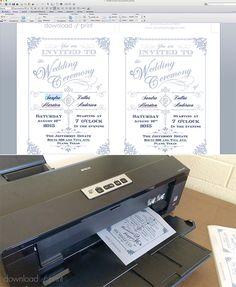 Printable vintage wedding invitation | Download & Print